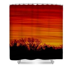 Shower Curtain featuring the photograph Sunrise Y-town by Angela J Wright