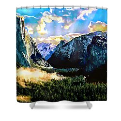 Sunrise Yosemite Valley Nationalpark Shower Curtain