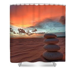 Sunrise Zen Shower Curtain by Sebastian Musial