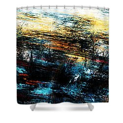 Shower Curtain featuring the digital art Sunset 083014 by David Lane
