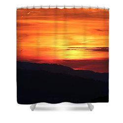 Sunset Shower Curtain by Amanda Mohler