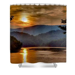 Sunset And Haze Shower Curtain