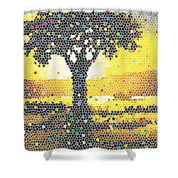 Shower Curtain featuring the painting Sunset Beauty by Anthony Mwangi