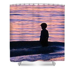 Sunset Art - Contemplation Shower Curtain by Sharon Cummings