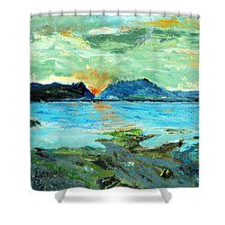 Sunset At Bic Shower Curtain
