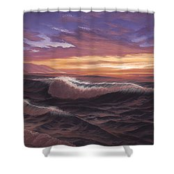 Sunset At Big Sur Shower Curtain