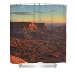 Shower Curtain featuring the photograph Sunset At Canyonlands by Alan Vance Ley