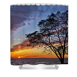 Sunset At Chesapeake Beach Shower Curtain