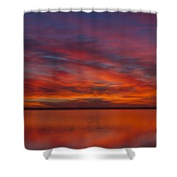 Sunset At Cheyenne Bottoms 1 Shower Curtain