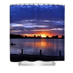 Sunset At Creve Coeur Park Shower Curtain
