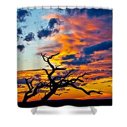 Sunset At Enchanted Rock Shower Curtain