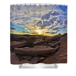 Sunset At Enchanted Rock State Natural Area Shower Curtain