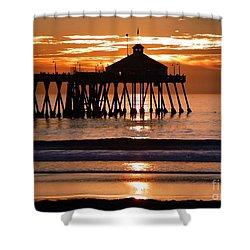 Sunset At Ib Pier Shower Curtain