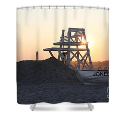 Shower Curtain featuring the photograph Sunset At Jones Beach by John Telfer