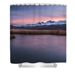 Sunset At Klondike Lake Shower Curtain by Cat Connor