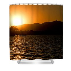 Shower Curtain featuring the photograph Sunset At Kunming Lake by Yew Kwang