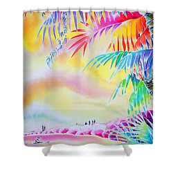 Sunset At Kuto Beach Shower Curtain
