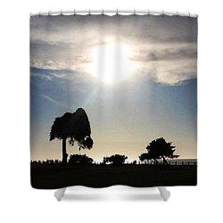 Sunset At La Jolla Shower Curtain by Susan Garren