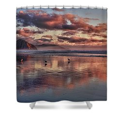 Sunset At Morro Strand Shower Curtain