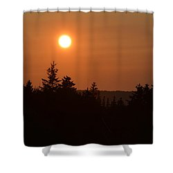 Sunset At Owl's Head Shower Curtain