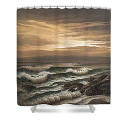 Sunset At Pacific Grove Shower Curtain