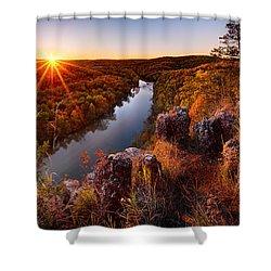 Sunset At Paint-rock Bluff Shower Curtain
