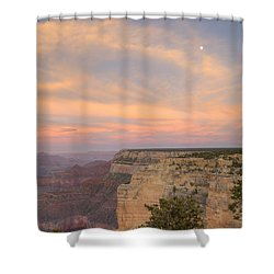 Shower Curtain featuring the photograph Sunset At Powell Point by Alan Vance Ley