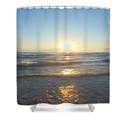 Sunset At Sauble Beach  Shower Curtain