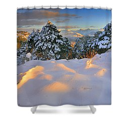 Sunset At Sierra Nevada Shower Curtain by Guido Montanes Castillo
