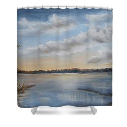 Sunset At Sparta Lake New Jersey Shower Curtain