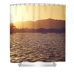 Sunset At Summer Palace Shower Curtain by Yew Kwang
