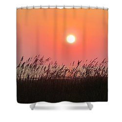 Shower Curtain featuring the photograph Sunset At The Beach by Cynthia Guinn