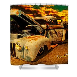 Sunset At The Blanco River Shower Curtain by Chas Sinklier