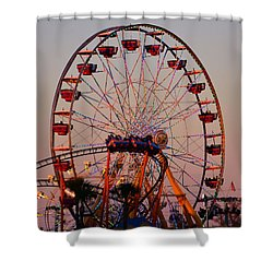 Sunset At The Fair Shower Curtain by David Lee Thompson