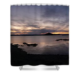 Sunset Over Lake Myvatn In Iceland Shower Curtain