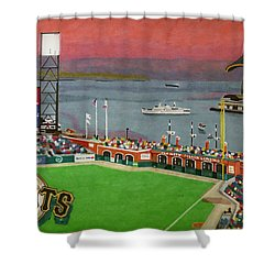Sunset At The Park Shower Curtain