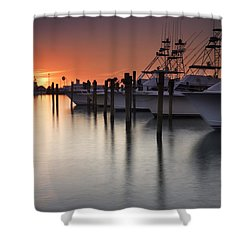 Sunset At The Pelican Yacht Club Shower Curtain