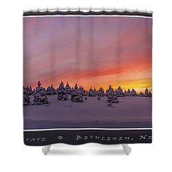 Sunset At The Rocks Shower Curtain