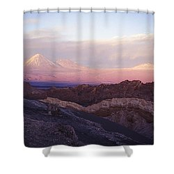 Sunset At The Valley Of The Moon Shower Curtain by Lana Enderle