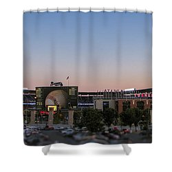 Sunset At Turner Field Shower Curtain