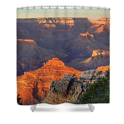 Shower Curtain featuring the photograph Sunset At Yaki Point by Alan Vance Ley