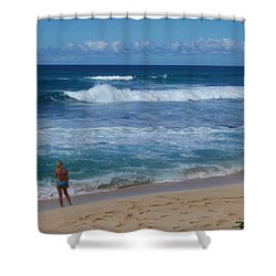 Sunset Beach Shower Curtain by Kenneth Cole