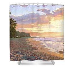 Sunset Beach - Oahu Shower Curtain by Steve Simon