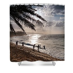 Sunset Beach Park Shower Curtain