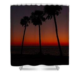 Sunset Beach Silhouette Shower Curtain