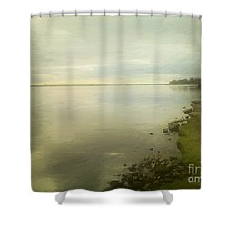 Sunset Before The Storm Shower Curtain by RC DeWinter
