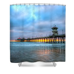 Sunset Beneath The Pier Shower Curtain