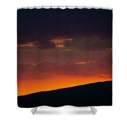 Sunset Beyond The Waianae Mountain Range Shower Curtain by Lehua Pekelo-Stearns