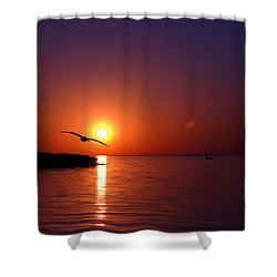 Sunset Blue Shower Curtain