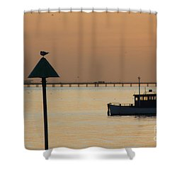 Sunset Blur Shower Curtain by Vicki Spindler